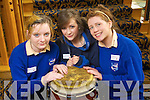 Shaena Maher, Katie O'Connor and Claire Tangney from St Brigids School, Killarney pictured at Ceiliuradh na nOg at the Brandon hotel on Thursday.
