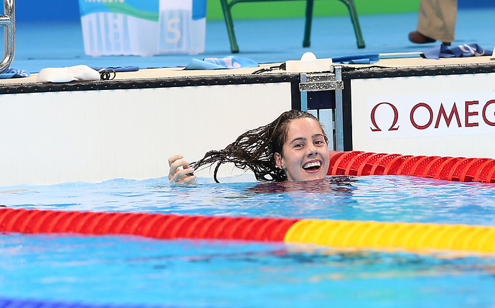 Rio de Janeiro-15/9/2016- Canada swimmer Aurelie Rivard swims to a gold medal in the women's 400m freestyle final at the 2016 Paralympic Games in Rio. Photo Scott Grant/Canadian Paralympic Committee