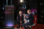 © Joel Goodman - 07973 332324 . 26/09/2016 . Liverpool , UK . JOHN MCDONNELL (l) is interviewed by EVAN DAVIS (r) on Newsnight during the Labour Party Conference at the ACC Conference Centre . Photo credit : Joel Goodman
