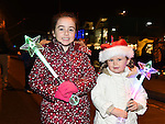 Leah Murray Dyas and Lily Murray Sullivan pictured at the fireworks display at Scotch Hall sponsored by Funtasia. Photo:Colin Bell/pressphotos.ie