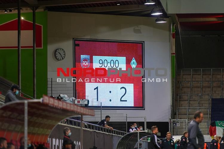 Anzeigentafel 1:2<br /> <br /> <br /> Sport: nphgm001: Fussball: 1. Bundesliga: Saison 19/20: Relegation 02; 1.FC Heidenheim vs SV Werder Bremen - 06.07.2020<br /> <br /> Foto: gumzmedia/nordphoto/POOL <br /> <br /> DFL regulations prohibit any use of photographs as image sequences and/or quasi-video.<br /> EDITORIAL USE ONLY<br /> National and international News-Agencies OUT.