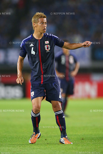 Keisuke Honda (JPN), <br /> AUGUST 14, 2013 - Football / Soccer : <br /> KIRIN Challenge Cup 2013 match <br /> between Japan 2-4 Uruguay <br /> at Miyagi Stadium, Miyagi, Japan.<br />  (Photo by AFLO SPORT)