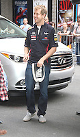 June 11, 2012: Formula One driver Sebastian Vettel at the Late Show with David Letterman in New York City. © RW/MediaPunch Inc. NORTEPHOTO.COM