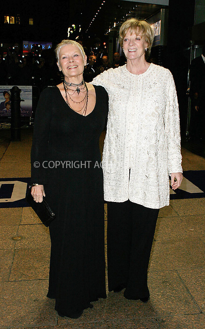 WWW.ACEPIXS.COM . . . . .  ... . . . . US SALES ONLY . . . . .....LONDON, NOVEMBER 8, 2004....Judi Dench, and Maggie Smith at the Royal premiere of Ladies in Lavender at the Odeon Leicester Square. ....Please byline: FAMOUS - ACE PICTURES- F. DUVAL... . . . .  ....Ace Pictures, Inc:  ..Alecsey Boldeskul (646) 267-6913 ..Philip Vaughan (646) 769-0430..e-mail: info@acepixs.com..web: http://www.acepixs.com