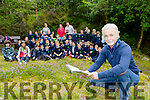 Author Eoin Cotter gave a talk and a reading to the children of St Joesphs NS Castlemaine with Brendan Griffin TD in Killoclohane Woods on Wednesday morning