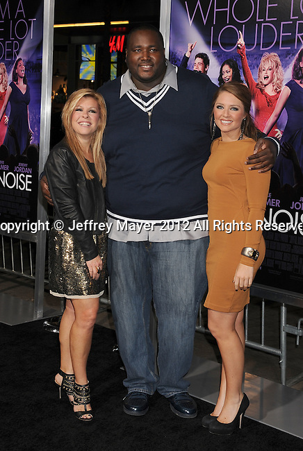 HOLLYWOOD, CA - JANUARY 09: Leigh Anne Tuohy, Quinton Aaron and Collins Tuohy attend the 'Joyful Noise' Los Angeles Premiere at Grauman's Chinese Theatre on January 9, 2012 in Hollywood, California.