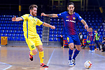 League LNFS 2017/2018 - Game 15.<br /> FC Barcelona Lassa vs Gran Canaria FS: 9-2.<br /> Juanillo Bola&ntilde;os vs Joao Batista.