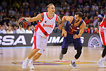 League ACB-ENDESA 2017/2018. Game: 1.<br /> FC Barcelona Lassa vs Baskonia: 87-82.<br /> Janis Timma vs Pau Ribas.