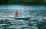 Woman paddling on Deer Creek Reservoir
