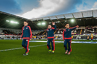 youth players for Tony Avo  during the Barclays Premier League match between Swansea City and Aston Villa played at the Liberty Stadium, Swansea  on March the 19th 2016