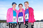 Michelle Kelliher, Niamh Shanahan and Aoife O'Connor at the Valentines 10 mile road race in Tralee on Saturday.