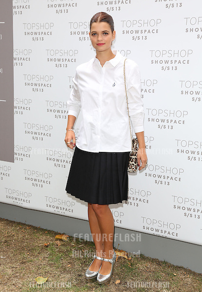 Pixie Geldof arriving at the Unique catwalk show as part of London Fashion Week SS13, Top Shop Venue, Bedford Square, London. 16/09/2012 Picture by: Henry Harris / Featureflash