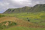 Scenic mountain region of Sicily, Italy