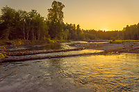 Nisqually River, WA.  July sunset.