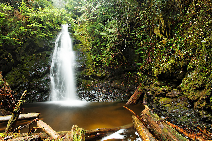 Un-named waterfall on Hawthorn Creek, Mountain Loop Highway, Snohomish County, Washington Cascade Mountains