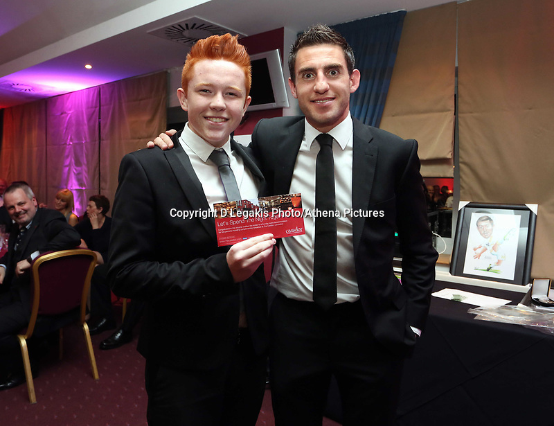 Pictured: The son of Martin Morgan (L). Wednesday 10 April 2013<br />