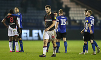 Bolton Wanderers' Yanic Wildschut shows his despair at the end of the match<br /> <br /> Photographer Andrew Kearns/CameraSport<br /> <br /> The EFL Sky Bet Championship - Sheffield Wednesday v Bolton Wanderers - Tuesday 27th November 2018 - Hillsborough - Sheffield<br /> <br /> World Copyright &copy; 2018 CameraSport. All rights reserved. 43 Linden Ave. Countesthorpe. Leicester. England. LE8 5PG - Tel: +44 (0) 116 277 4147 - admin@camerasport.com - www.camerasport.com