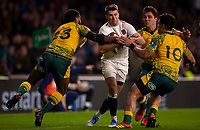 England's Richard Wigglesworth in action during todays match<br /> <br /> Photographer Bob Bradford/CameraSport<br /> <br /> 2018 Quilter Internationals - England v Australia - Saturday 24th November 2018 - Twickenham - London<br /> <br /> World Copyright &copy; 2018 CameraSport. All rights reserved. 43 Linden Ave. Countesthorpe. Leicester. England. LE8 5PG - Tel: +44 (0) 116 277 4147 - admin@camerasport.com - www.camerasport.com