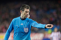 Referee Wolfgang Stark during Champions League soccer match between Atletico de Madrid and Olympiacos at Vicente Calderon stadium in Madrid, Spain. November 26, 2014. (ALTERPHOTOS/Victor Blanco) /NortePhoto