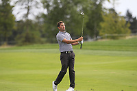 Daniel Brooks (ENG) on the 1st fairway during Round 1 of the D+D Real Czech Masters at the Albatross Golf Resort, Prague, Czech Rep. 31/08/2017<br /> Picture: Golffile | Thos Caffrey<br /> <br /> <br /> All photo usage must carry mandatory copyright credit     (&copy; Golffile | Thos Caffrey)
