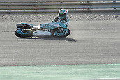 18th March 2018, Losail International Circuit, Lusail, Qatar; Qatar Motorcycle Grand Prix, Sunday race day; Enea Bastianini (Leopard) crashes out