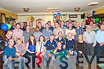 Retirement Party : Brian Byrne, Listowel, fourth from right seated, celebrating his retirement from Kerry General Hospital after 44 years service with the HSC, at The Saddle Bar, Listowel on Friday night last.