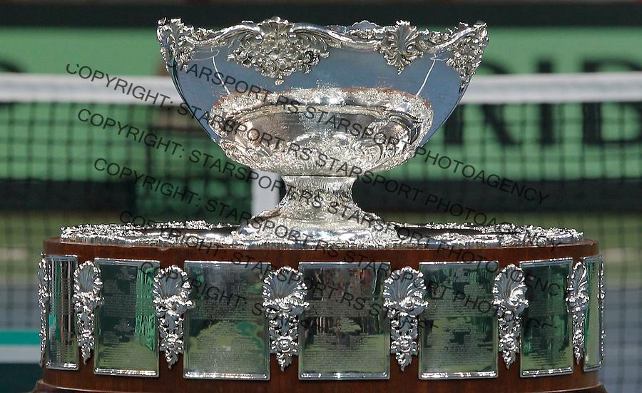 Tennis Tenis<br /> Davis Cup Final 2013<br /> Serbia v Czech Republic<br /> Award ceremony<br /> Davis Cup trophy<br /> Beograd, 17.11.2013.<br /> foto: Srdjan Stevanovic/Starsportphoto &copy;