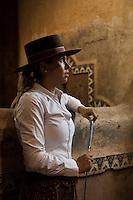 Lorena Morales Ponce at Abelardo Morales´hacienda Las Morerías, Santiago near Monterrey, Nuevo Leon, Mexico