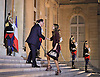 QUEEN RANIA IS GREETED BY PRESIDENT FRANCOIS HOLLANDE<br /> when she attended a dinner hosted by him at the at the &Eacute;lys&eacute;e Palace, Paris_17/9/2014<br /> Mandatory Photo Credit: &copy;Royal Hashemite Court/NEWSPIX INTERNATIONAL<br /> <br /> **ALL FEES PAYABLE TO: &quot;NEWSPIX INTERNATIONAL&quot;**<br /> <br /> PHOTO CREDIT MANDATORY!!: NEWSPIX INTERNATIONAL(Failure to credit will incur a surcharge of 100% of reproduction fees)<br /> <br /> IMMEDIATE CONFIRMATION OF USAGE REQUIRED:<br /> Newspix International, 31 Chinnery Hill, Bishop's Stortford, ENGLAND CM23 3PS<br /> Tel:+441279 324672  ; Fax: +441279656877<br /> Mobile:  0777568 1153<br /> e-mail: info@newspixinternational.co.uk