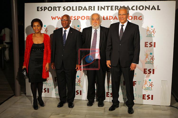 XIe Sopar Solidari d'ESI (Esport Solidari Internacional).<br /> Josep Maldonado con los embajadores de Sudafrica y Cabo Verde.
