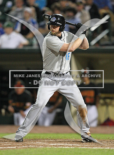 Syracuse Chiefs Chris Duncan at bat during a game vs. the Rochester Red Wings at Frontier Field in Rochester, New York May 19, 2010.   Syracuse defeated Rochester by the score of 5-1.  Photo By Mike Janes/Four Seam Images
