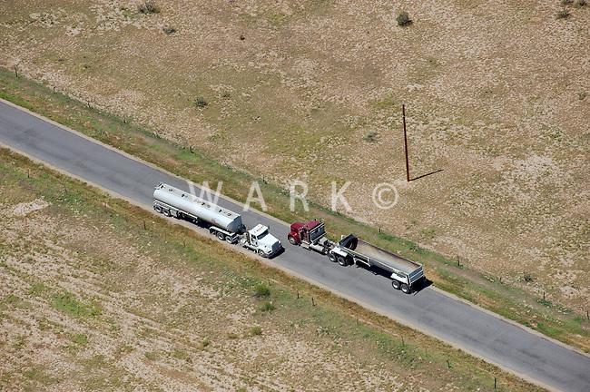 Lime Road trucks passing