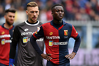 Ionut Radu and Christian Kouame of Genoa look on during the Serie A 2018/2019 football match between Genoa CFC and Juventus FC at stadio Luigi Ferraris, Genova, March 17, 2019 <br /> Photo Andrea Staccioli / Insidefoto