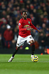 Aaron Wan-Bissaka of Manchester United during the Premier League match at Old Trafford, Manchester. Picture date: 1st December 2019. Picture credit should read: Phil Oldham/Sportimage
