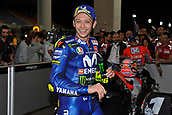 18th March 2018, Losail International Circuit, Lusail, Qatar; Qatar Motorcycle Grand Prix, Sunday race day; Valentino Rossi (Movistar Yamaha) celebrates his 3rd place