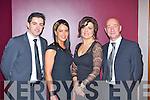 Aidan O'Mahony, Denise Healy, Linda O'Mahony and Jonathon Glenny Rathmore at the East Kerry All Stars in the INEC on Friday night