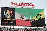 Action photo during the match Mexico vs Jamaica Corresponding to  Group -C- of the America Cup Centenary 2016 at Rose Bowl Stadium.<br /> <br /> Foto de accion durante el partido Mexico vs Jamaica, Correspondiente al Grupo -C- de la Copa America Centenario 2016 en el Estadio Rose Bowl, en la foto: Detalle<br /> <br /> <br /> 09/06/2016/MEXSPORT/David Leah