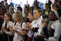 SPOKANE, WA - MARCH 30, 2013: Stanford vs Georgia  at the Spokane Arena, NCAA Championships, Sweet Sixteen round.