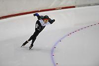 SCHAATSEN: HEERENVEEN: Thialf, 4th Masters International Speed Skating Sprint Games, 25-02-2012, Martin Heerma (M35) 3rd, ©foto: Martin de Jong