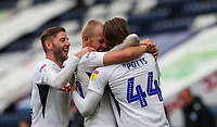 Preston North End's Brad Potts celebrates scoring his side's second goal with teammates<br /> <br /> Photographer Alex Dodd/CameraSport<br /> <br /> The EFL Sky Bet Championship - Leeds United v Barnsley - Thursday 16th July 2020 - Elland Road - Leeds<br /> <br /> World Copyright © 2020 CameraSport. All rights reserved. 43 Linden Ave. Countesthorpe. Leicester. England. LE8 5PG - Tel: +44 (0) 116 277 4147 - admin@camerasport.com - www.camerasport.com<br /> <br /> Photographer Alex Dodd/CameraSport<br /> <br /> The EFL Sky Bet Championship - Preston North End v Birmingham City - Saturday 18th July 2020 - Deepdale Stadium - Preston<br /> <br /> World Copyright © 2020 CameraSport. All rights reserved. 43 Linden Ave. Countesthorpe. Leicester. England. LE8 5PG - Tel: +44 (0) 116 277 4147 - admin@camerasport.com - www.camerasport.com