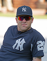 New York Yankees catcher Austin Romine (28) prior to the game against the Baltimore Orioles at Oriole Park at Camden Yards in Baltimore, MD on Tuesday, July 10, 2018.<br /> Credit: Ron Sachs / CNP<br /> (RESTRICTION: NO New York or New Jersey Newspapers or newspapers within a 75 mile radius of New York City) Credit: Ron Sachs/MediaPunch