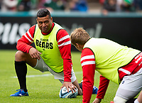 Siale Piutau of Bristol Bears looks on during the pre-match warm-up. Gallagher Premiership match, between Leicester Tigers and Bristol Bears on April 27, 2019 at Welford Road in Leicester, England. Photo by: Patrick Khachfe / JMP