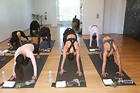 31 March 2017 - Beverly Hills, California - Martha Michelle, Draya Michele, Serayah McNeill. Draya Michele and Friends at AloYoga. Photo Credit: AdMedia