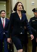 Dr. Fiona Hill, former Senior Director for Europe and Russia, National Security Council (NSC), arrives to testify during the US House Permanent Select Committee on Intelligence public hearing as they investigate the impeachment of US President Donald J. Trump on Capitol Hill in Washington, DC on Thursday, November 21, 2019.<br /> Credit: Ron Sachs / CNP<br /> (RESTRICTION: NO New York or New Jersey Newspapers or newspapers within a 75 mile radius of New York City)