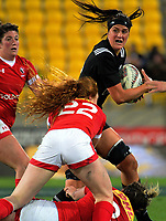 Charmaine Smith in action during the 2017 International Women's Rugby Series rugby match between the NZ Black Ferns and Canada at Westpac Stadium in Wellington, New Zealand on Friday, 9 June 2017. Photo: Dave Lintott / lintottphoto.co.nz
