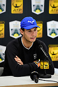 3rd November 2017, Paris, France; Rolex Masters tennis tournament;  Rafael Nadal (Esp) announces his withdrawal from the tournament due to injury