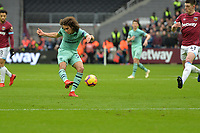 Matteo Guendouzi of Arsenal shoots wide during West Ham United vs Arsenal, Premier League Football at The London Stadium on 12th January 2019