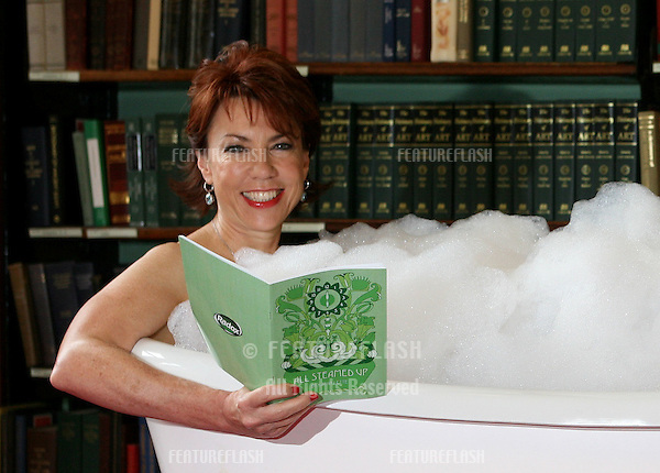 Kathy Lette launches her new waterproof book 'All Steamed Up', written to support the Radox 'Be Selfish' campaign, at The London Library, London. 07/09/2009. Picture by: Alexandra Glen / Featureflash