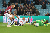 Preston North End's Lukas Nmecha wins a penalty from Aston Villa's James Chester<br /> <br /> Photographer Mick Walker/CameraSport<br /> <br /> The EFL Sky Bet Championship - Aston Villa v Preston North End - Tuesday 2nd October 2018 - Villa Park - Birmingham<br /> <br /> World Copyright &copy; 2018 CameraSport. All rights reserved. 43 Linden Ave. Countesthorpe. Leicester. England. LE8 5PG - Tel: +44 (0) 116 277 4147 - admin@camerasport.com - www.camerasport.com