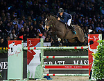 Olivier Robert of France riding Vivaldi Des Meneaux competes in the Masters One DBS during the Longines Masters of Hong Kong at AsiaWorld-Expo on 11 February 2018, in Hong Kong, Hong Kong. Photo by Diego Gonzalez / Power Sport Images